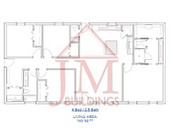 4 Bed 2 Bath Barndominium Floor Plan - JM Buildings