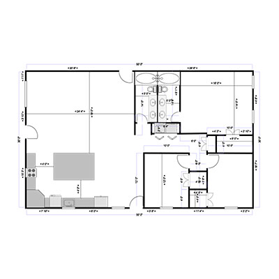 JM Buildings - Barndominium Floor Plan - 2
